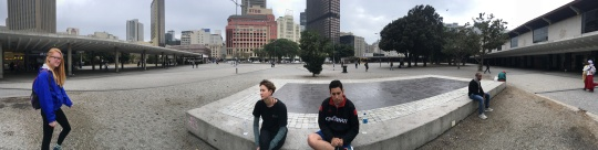 The square by the Cape Town train station.