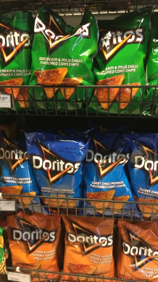 Doritos flavors in South Africa.