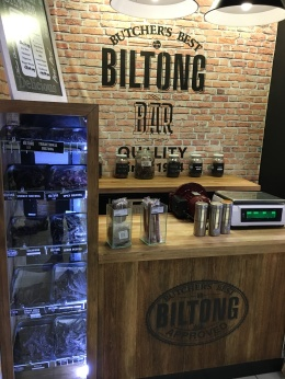 The biltong bar in the Engen by my house.